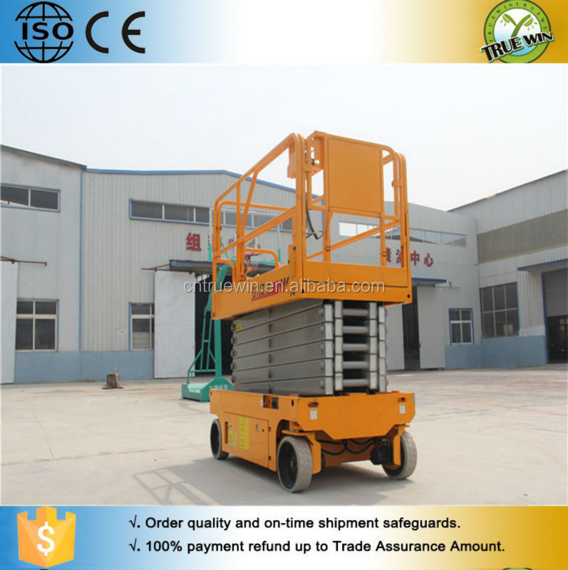 CE approved motorized hydraulic lift system/mobile scissor lift