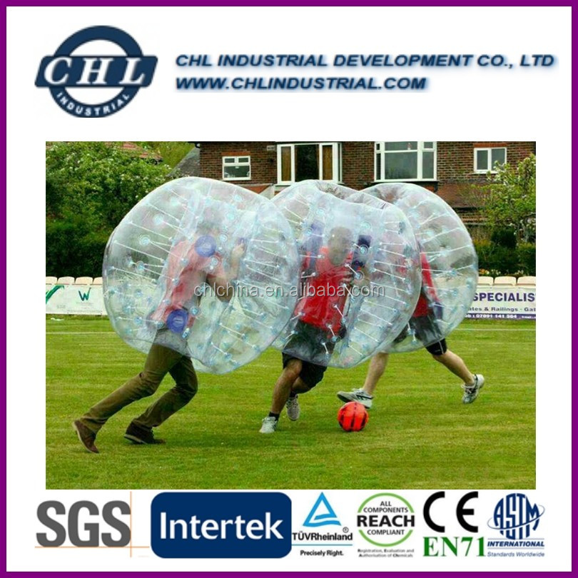 Hot sales inflatable PVC/TPU bubble Soccer ball