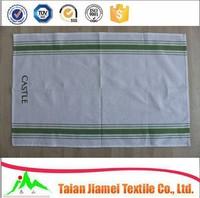 home textile white plain cheap cotton linen embroidered tea towel kitchen towel dish towel wholesale