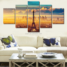 Framed Paris Eifel tower printing on canvas with high resolution