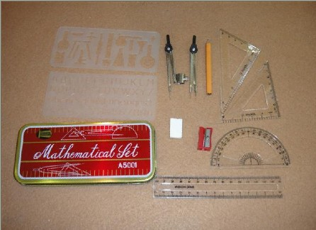 cheapeast school math set mathematical instruments compass set in mainland China