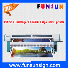 good price Infiniti / Challenger FY-3208L 3.2m solvent printer for outdoor printing