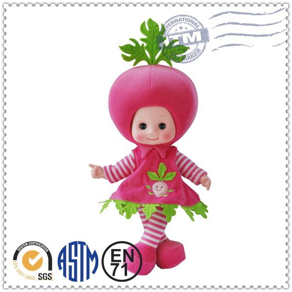 Hot sale promotion high quality fashion funny fruit kid doll