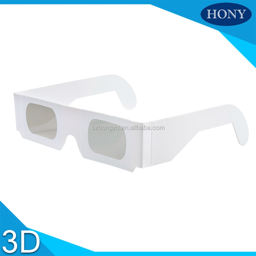 2*250g Cheap Disposable Paper circular polarized 3D Glasses For Cinema (PA0001)