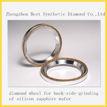 Diamond wheel for back-side-grinding of silicon sapphire wafer