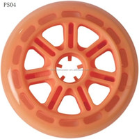 100mm cheap price colorful PU urethane materials pro stunt racing scooter wheels
