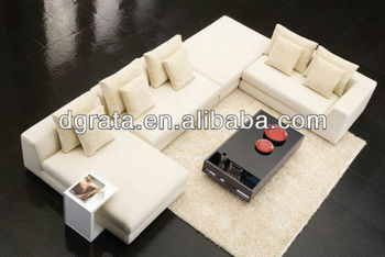 2012 popular white sofa furniture suits is uesd the high quality fabric to finish for the house furniture