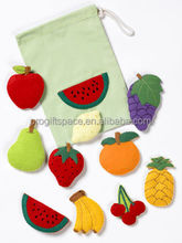 2017 newest hot China fabric handmade craft wholesale ornament decorative bag gift felt fruit and vegetable Christmas decoration