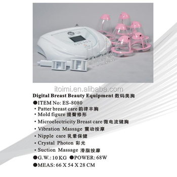 Breast sucking machine breast nipple massage machine breast enlargement equipment For beauty salon