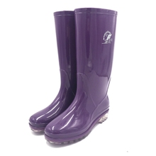 HN203 Purple gumboots adult ladybug rain boots for cleaning or car wash