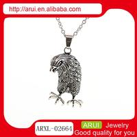animal shaped jewelry made in china fashion silver ferocious owl pendant