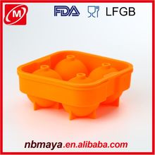 Hot Sale Easy Non-stick Good Price Ningbo FDA passed BPA Free Custom Ice Cube Mold Ice Ball Maker Mold