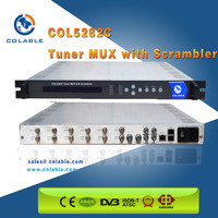 8 channels Multiplexer Digital tv scrambler with Up to 4 CAS