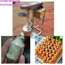 Snack food BBQ string gluten seitan making forming shaping machine