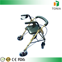 Walking aids folding rollaor with hand brake