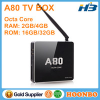 Porn Movice CSQ8 Octa Core Allwinner A80 Android 4.4 Full Video Format Decoding Android Smart TV Box For Japan