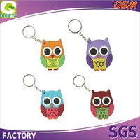 2D Or 3D Cute Animal Promotion Customized Logo Rubber Keyring