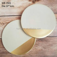 bespoke designs gold dipped concrete coasters