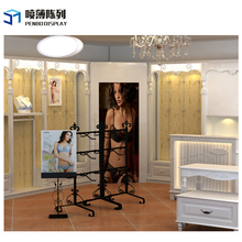 Clothes kiosk women garment underwear shop interior design