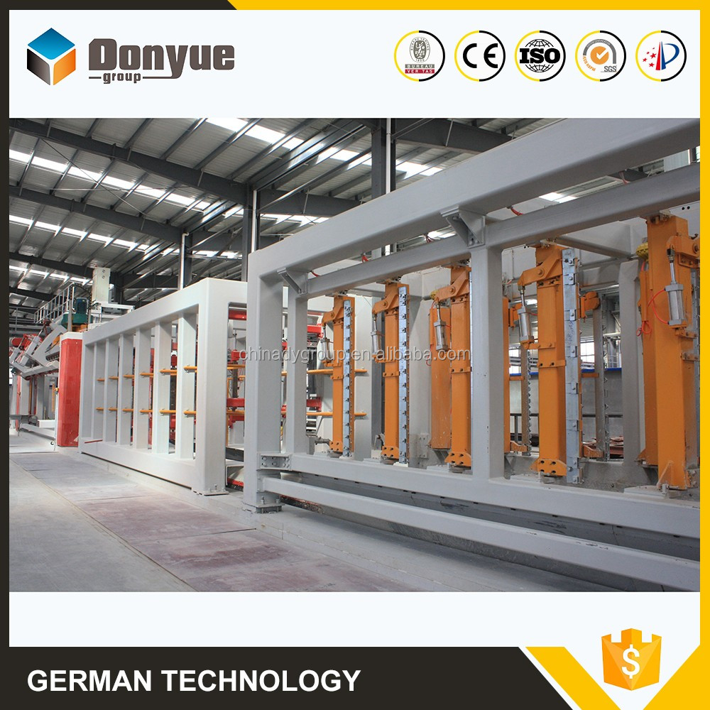 Fly ash/cement/lime/gypsum/aluminum paste block and panel production line