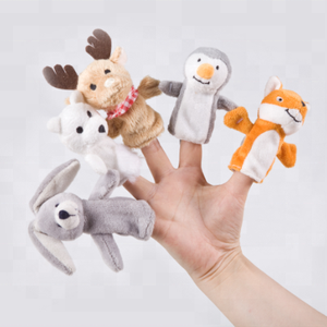 Plush stuffed animal toys finger puppet in animal shape
