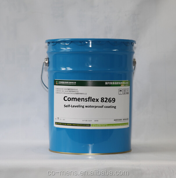 One component moisture curing bathroom and concrete waterproof coating polyurethane self leveling sealant