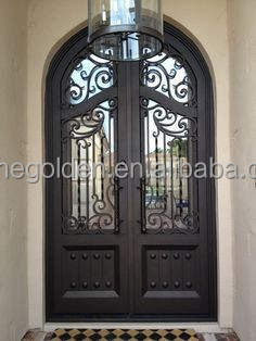 Top wrought iron security door SG-15D025