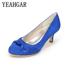 High Quality Sexy Women Leather Dress Kitten Heel Shoes