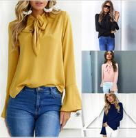 2018 hot sale ladies causal lossed shirt women cheaper top
