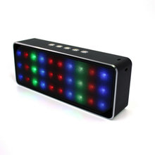 High-end best sound quality wireless portable metal bluetooth speaker with colorful led lights