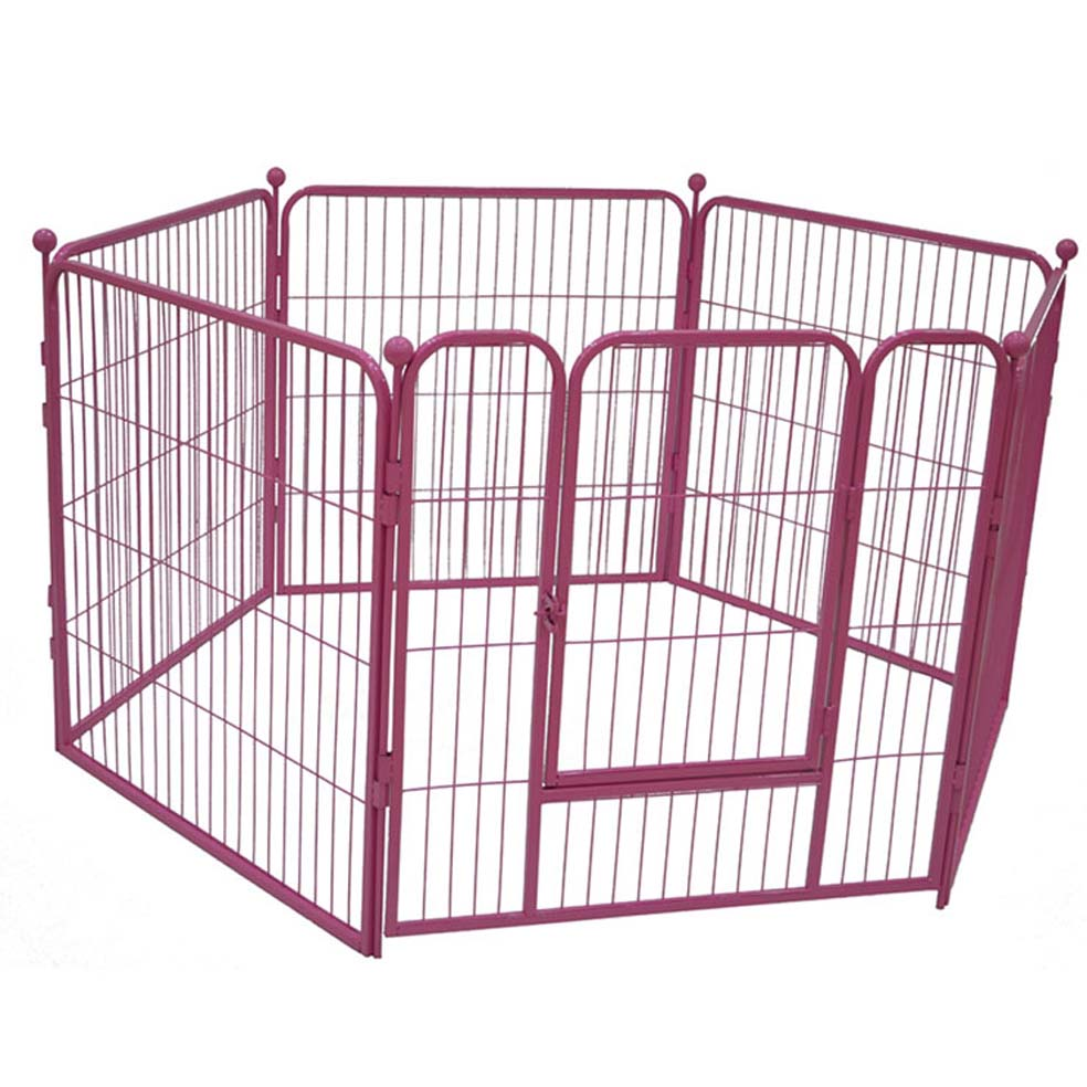MEIHUA Heavy Duty Large Metal Dog Crate Tray Dog Cage Portable Travel Kennel