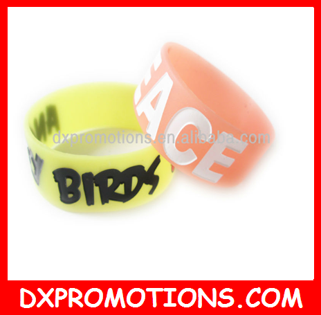 "1'' customized silicone wristband/1"" silicone wristbands"