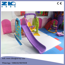 Children Indoor Playground Plastic Swing with Slide for Sale