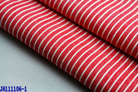 21s striped plain yarn dyed 100 cotton fabrics for shirt trousers garment factory wholesale red white