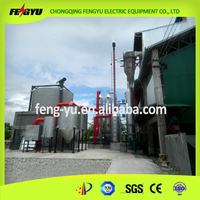 1000KW rice husk hull coconut bagasses biomass gasifier electricity power generation plant in Philippines