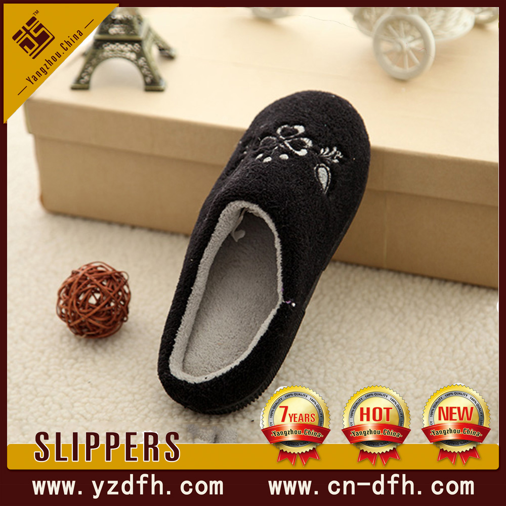 plush home textile fabric whosale toy slipper