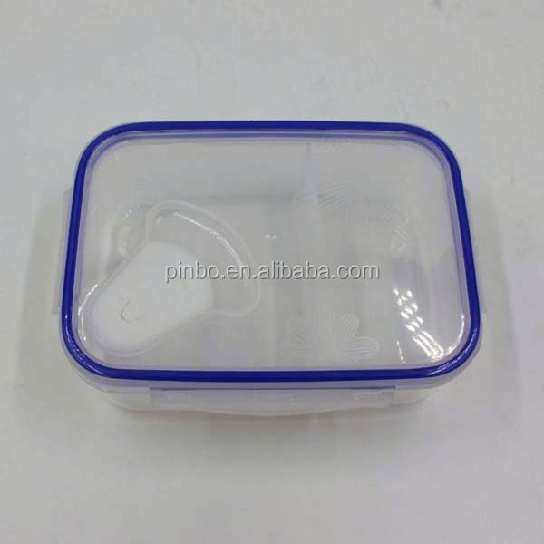 Hermetic Transparent 2 Compartments Thermal Food Warmer Lunch Box