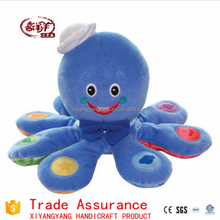 plush soft toys embroidery smiling cute plush octopus