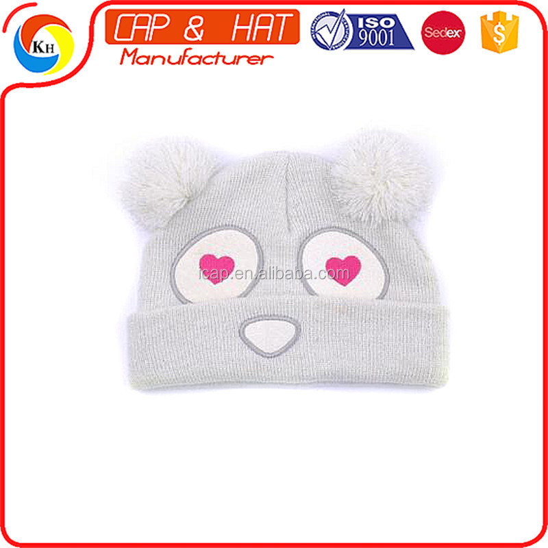 2016 New custom knitted animal pattern hat beanie autumn winter children knitted BABY girls cake warm hat cap