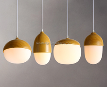 Wholesale Glass Egg Shaped Pendant Lamps Dining Room Lighting