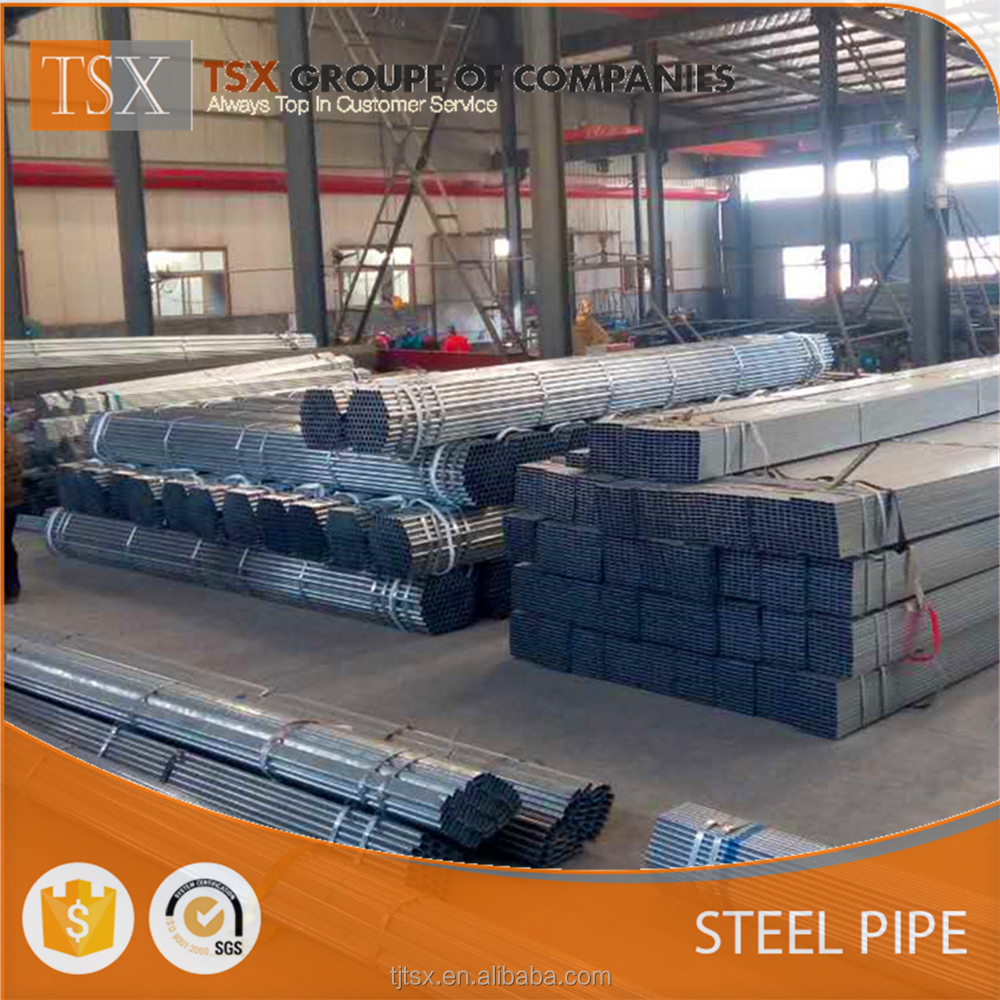 TSX-GSP2005 Q235 ERW welded hot dipped Galvanized Steel pipe/tube/scaffolding pipe