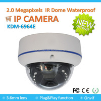 Factory price H.264 P2P ONVIF Vandelproof Dome IR Waterproof IP Camera