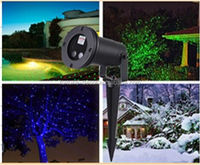 New product Green & Red & Blue Static Laser Projector Landscape waterproof laser lights Christmas lights for outdoor