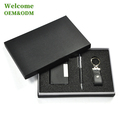 new style PU leather novelty custom different types small product luxury wallet keychain pen business gift box packaging box