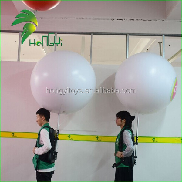 LED Inflatable Air Walkers Balloons , Advertising Backpack Walking Lighting Balls , Backpack Air Balloon
