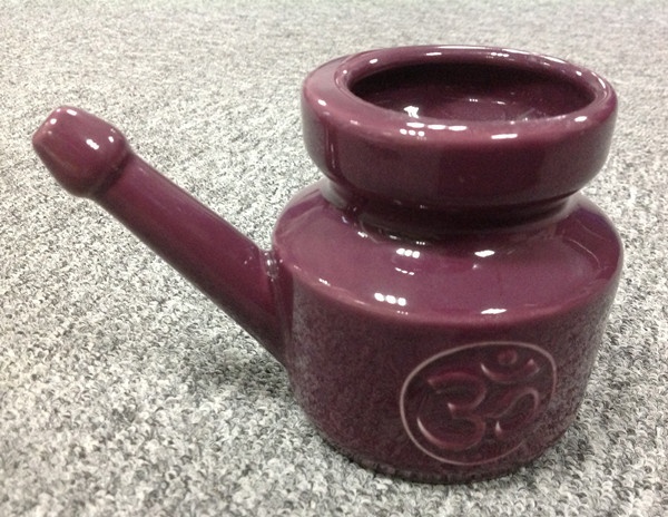 White Yellow Purple Red Color Glazed Ceramic Stoneware Neti Pots