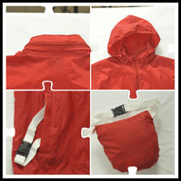 Sunnytex quick dry OEM high quality foldable outdoor cheap rain polyester jacket