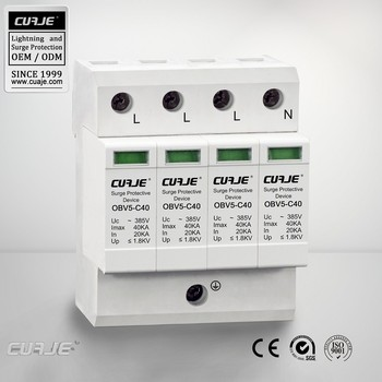 Din rail mounted 40KA Lightning arrester,SPD protection, Ac Surge arrester prices