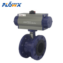 Italy Flowx Brand WCB Body Pneumatic Control Double Flanged Butterfly Valve