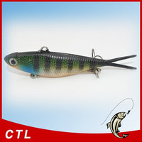 Gold supplier of Soft VIBE Lure Made of TPR Fishing Bait in alibaba for years